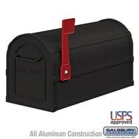 """Salsbury Heavy Duty Rural Mailbox - Black-MAILBOX 4850BLK 7.5"""" x 9.5"""" x 20.5"""""""