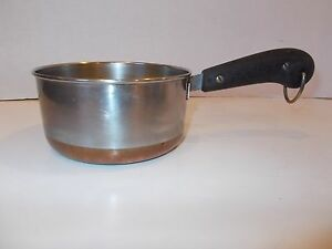 Vintage Revere Ware Stainless Steel Heavy 1 Qt Sauce Pan