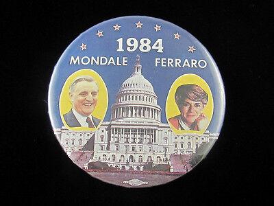 CLASSIC 1984 WALTER MONDALE /& GERALDINE FERRARO WHITE HOUSE JUGATE BUTTON