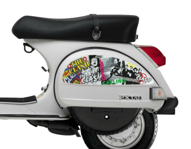 Side panel stickers fits vespa px t5 scooter the clash punk decal sp13
