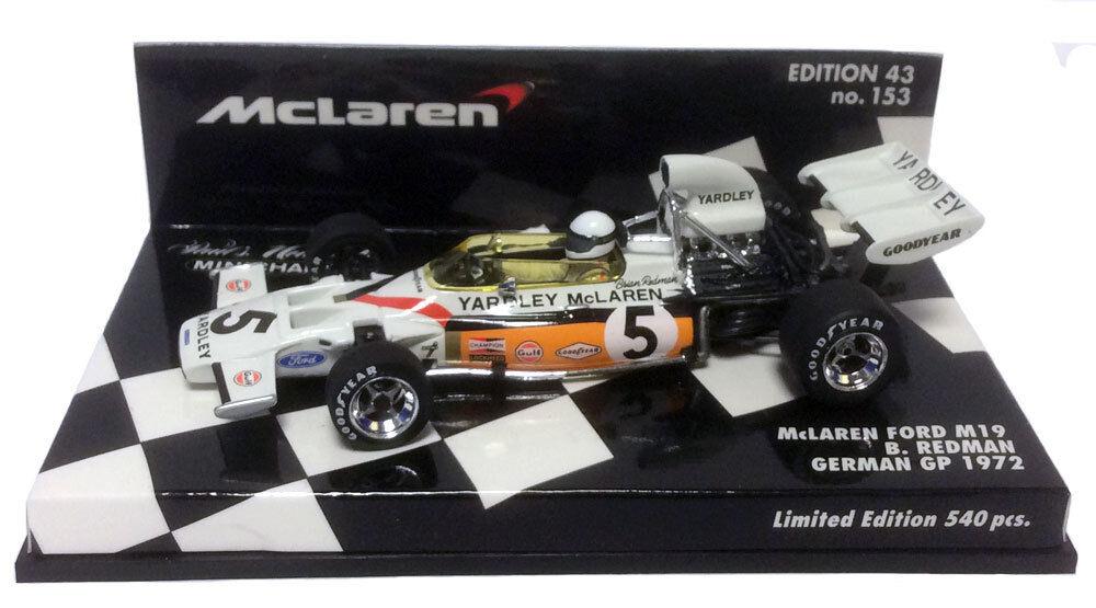 Minichamps McLaren m19  5  Yardley  GERMAN GP 1972-Brian rossoman SCALA 1/43