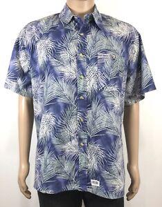TOUCAN-DANCE-SZ-L-by-Fast-Lane-Vintage-Hawaiian-Men-039-s-Shirt