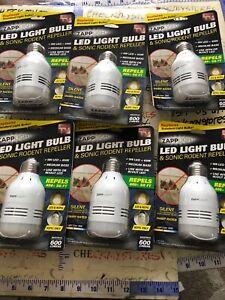 NEW Zapplight Led Light Bulb /& Sonic Rodent Repeller 600 Lumens NEW