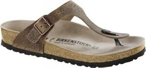 3a6ed812238d Image is loading REDUCED-Birkenstock-CRAFTED-RIVETS-II-Leather-GIZEH -Tobacco-