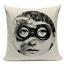 thumbnail 24 - Fornasetti Style Pillow Case Cover Sofa Home Textile Vintage Cushion Linen Decor
