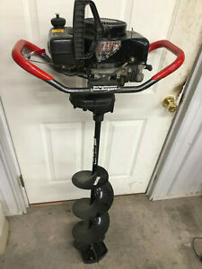 StrikeMaster-Laser-XL-3000-Ice-Fishing-Auger-Tecumseh-3HP-10-in-gas-power-NICE