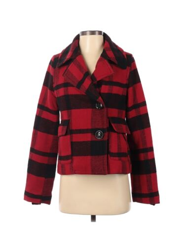 American Eagle Outfitters Women Red Wool Coat S