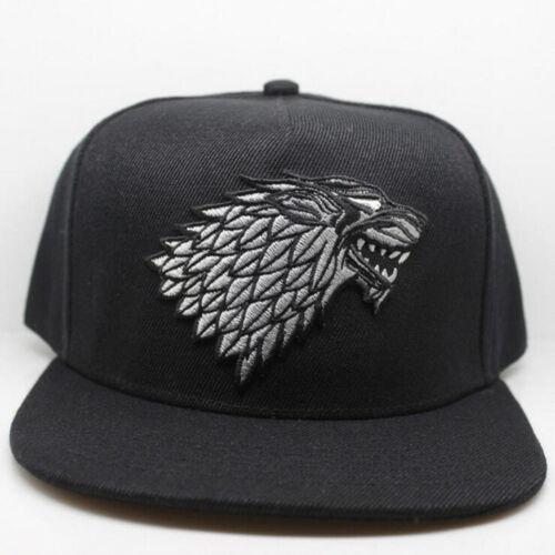 Game Of Thrones Cosplay Cap House of Stark Baseball Caps Cosplay Black