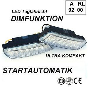 LED-Tagfahrleuchten-R87-Modul-E-Pruefzeichen-E9-16SMD-Tagfahrlicht-TFL