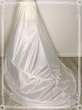 2 Ringe Schleppe Reifrock schräg weiß Unterrock Petticoat Krinoline Brautkleid