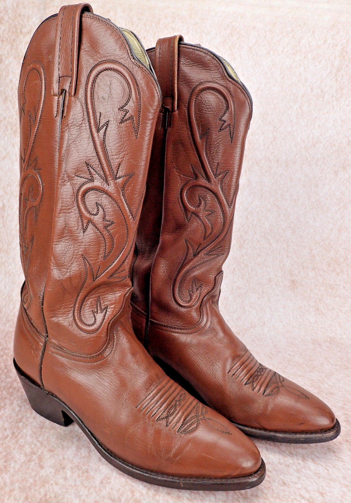 DAN POST Cowboy Western Boot Antique Tan Mignon Brown Women's Size 7.5 M