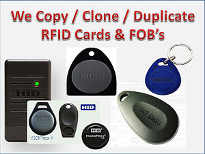 Details about Need a spare RFID key? We clone RFID keys  HID & AWID