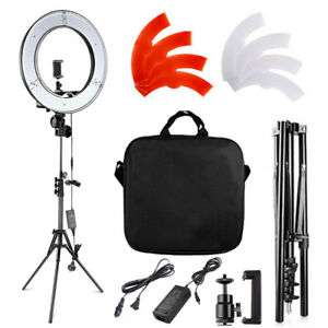 "FOSITAN 18"" LED Photography Ring Light Dimmable 5500K Lighting Photo Video Stand"