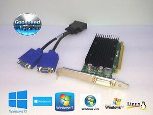 Dell-Optiplex-3010-7010-9010-NVIDIA-NVS-300-Double-Moniteur-VGA-Carte-Graphique-Video