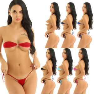 5837206fa0c Women's Sexy Lingerie Micro Bikini Set Bra G-string Underwear ...