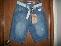 Flypaper Light Wash Belted Jean Shorts Size 29 Retails $48.00