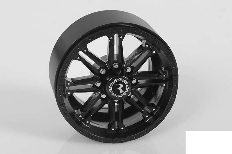 RC4WD Raceline Octane 2.2  SINGOLO Lega Ruote negro Z-Q0064 di Ricambio RC giocattolo