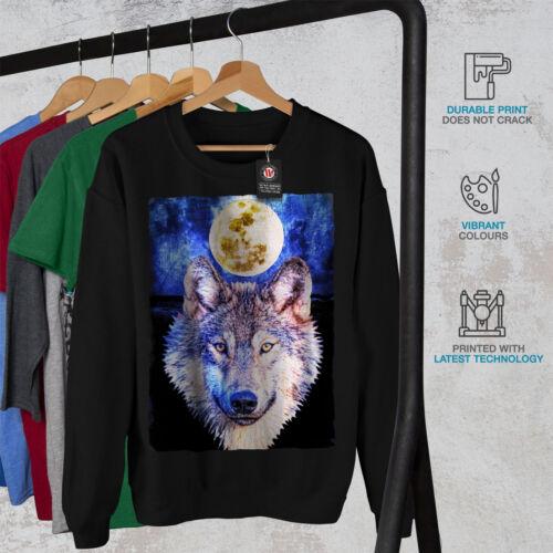 Moon Wolf Noir Nouveau Animal Men Sweat Beast shirt kXw8POn0