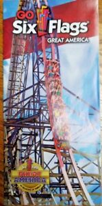 Map Of 6 Flags Great America.Details About Park Map Six Flags Great America 2015 Gurnee Il