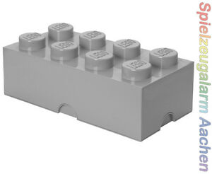 LEGO Storage Brick 8 GRAU grey Stein 2x4 Aufbewahrung Dose Box Kiste 8