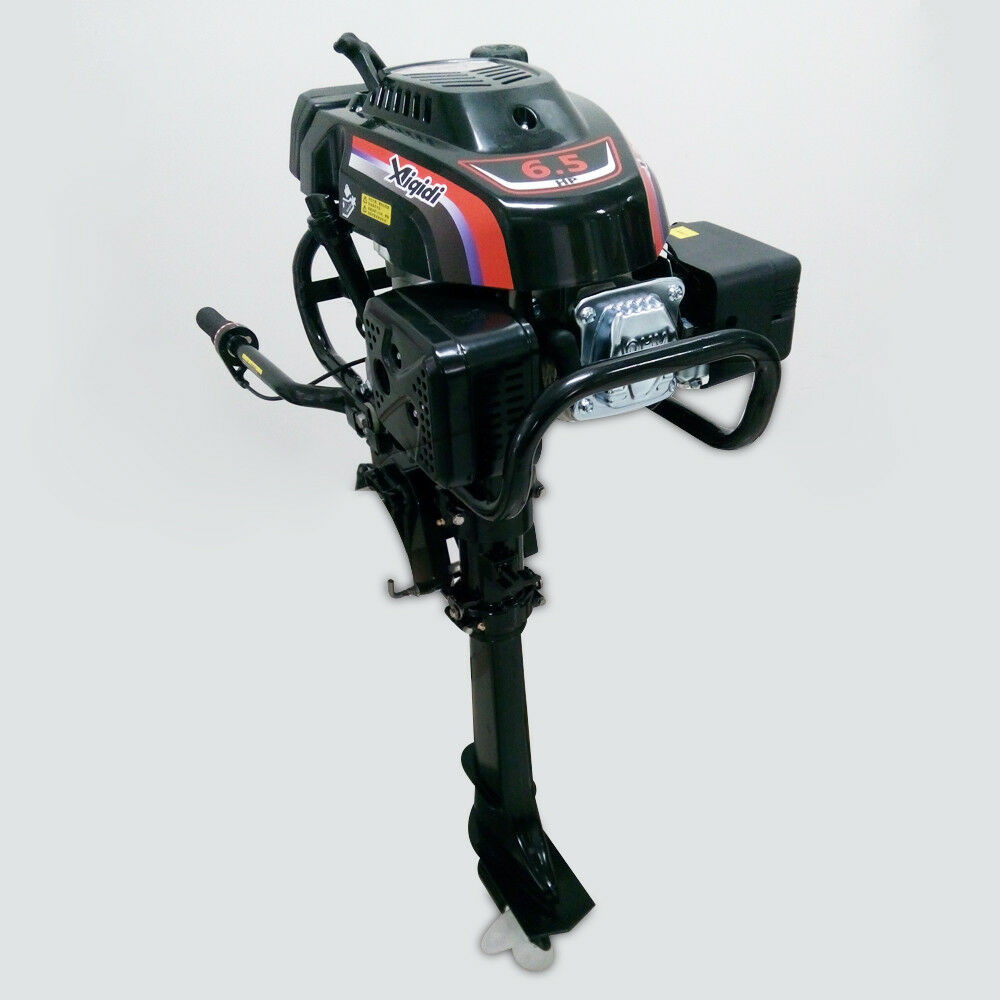 4-Takt Benzinmotor 6.5PS Benzinmotor 4-Takt Stiefelmotor Außenbordmotor+Luftkühlsystem Gute Qualität e83853