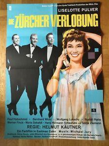 Die-Zuercher-Verlobung-Kinoplakat-039-62-Liselotte-Pulver-Helmut-Kaeutner