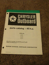 1980 Chrysler Outboard 45 HP Parts Catalog Manual 456HOL 457HOL 459H0J 456BOL +