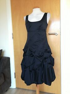 Ladies-Dress-Size-10-MONSOON-Black-Ruched-Hitched-Party-Evening-Cruise-Occasion