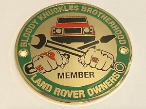 Land Rover Defender Owners Club Grille Badge Quot Bloody