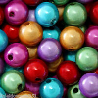 MIRACLE BEADS COLOR MIX RED PURPLE GREEN GOLD FUCHSIA TURQUOISE 6MM 100 PC MBX61
