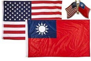 Wholesale Combo USA /& State of Kentucky 3x5 3'x5' Flag /& Friendship Lapel Pin