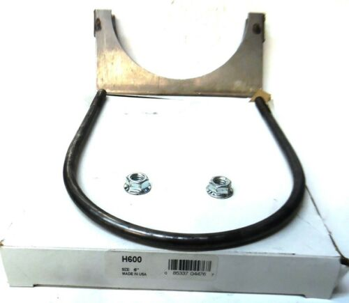 "11 GAUGE EXHAUSE PIPE CLAMP 3//8/"" U-BOLT DIA. 6/"" SIZE H600"
