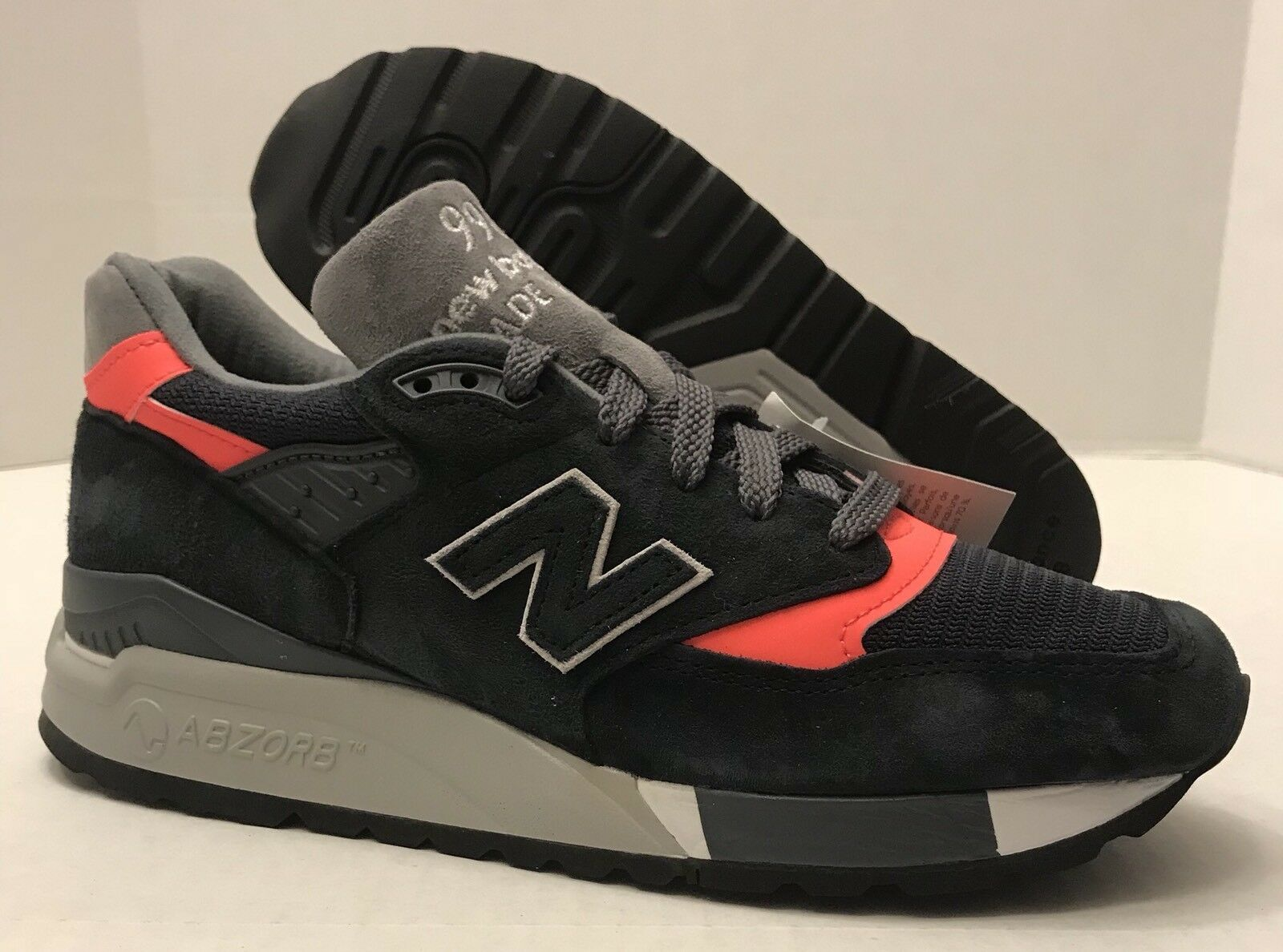 NEW BALANCE 998 Suede Shoes Made NAVY/PINK in The USA M998APC NAVY/PINK Made (MEN'S 6.5) NO BOX 26c62b