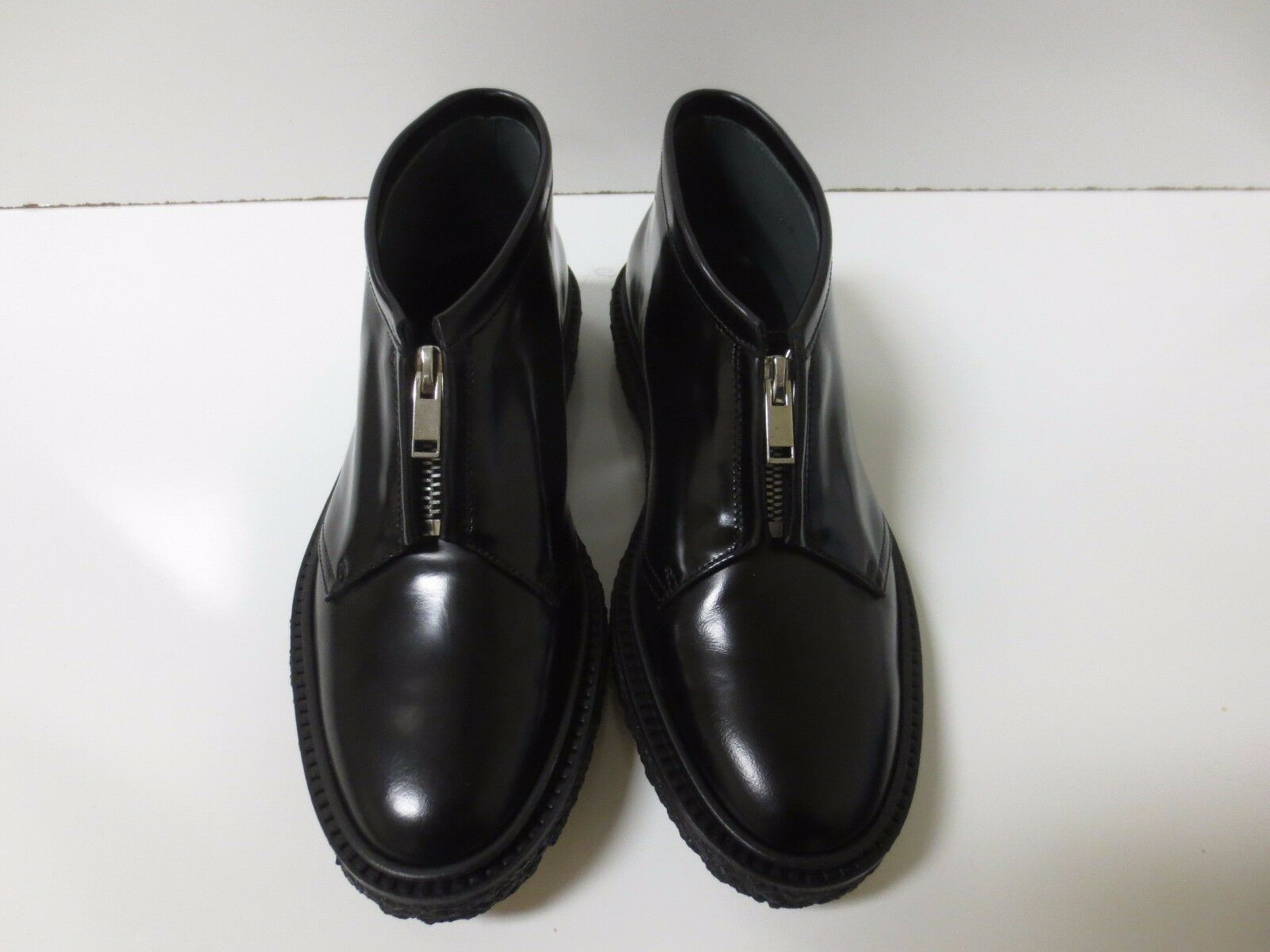 ADIEU PARIS Black Type 3 Zip Front Chukka Boot shoes Flats FR 36.5 NEW BOX  575