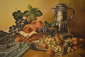 Kitchen food fruits dining room woven picture tapestry for Ebay dining room wall art