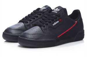 Details about Adidas Men's Originals Continental 80 Shoes (G27707) Black Red Navy