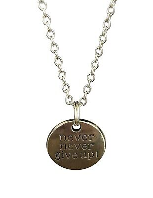 charm necklace FA2 never never give up Jewelry Jewelry never never give up initial necklace never never give up Charm