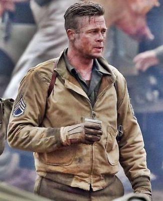 FURY Brad Pitt-citerne WW2 khaki haute qualité militaire en Coton Veste Neuf