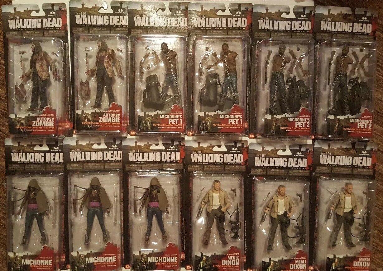 precios al por mayor Walking Dead Serie de TV Estuche completo de de de 3 Figuras De Acción  tienda