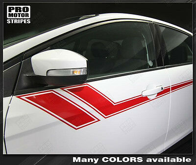 Ford Focus Side Accent Triple Stripes Decals 2011 2012 2013 2014 Pro Motor