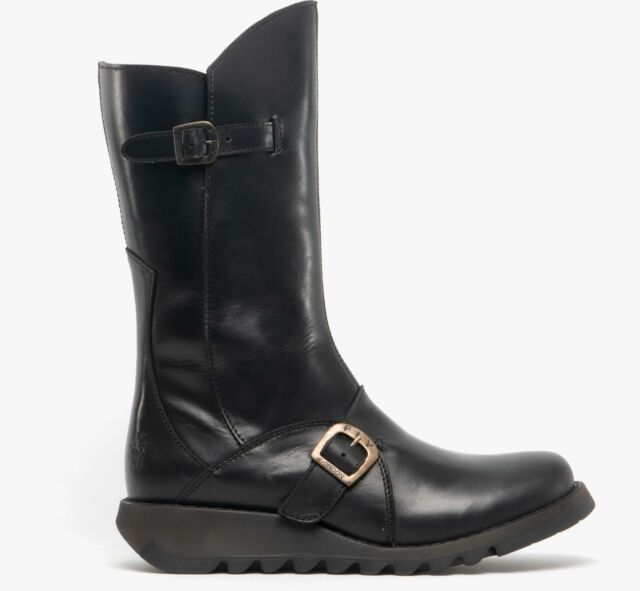 Fly London Mes Womens Leather Mid Calf
