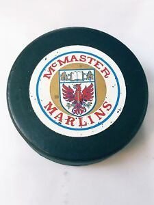 McMASTER-MARLINS-VINTAGE-OFFICIAL-VICEROY-CANADA-HOCKEY-PUCK