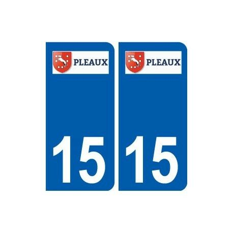 15 Pleaux logo ville autocollant plaque sticker droits