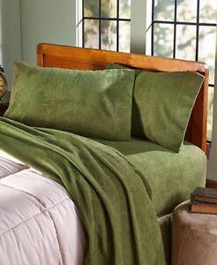 Image Is Loading Brushed Fleece Bed Sheets Soft Plush Winter Bedding