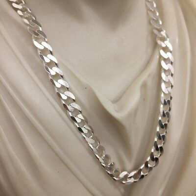 6.5mm Mens Figaro Necklaces Link Chain Pendants 40GR 22Inch 925 Sterling Silver