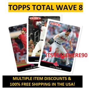 2019-Topps-Total-Wave-8-Singles-YOU-PICK-DISCOUNTS-FOR-MULTIPLE-ITEMS