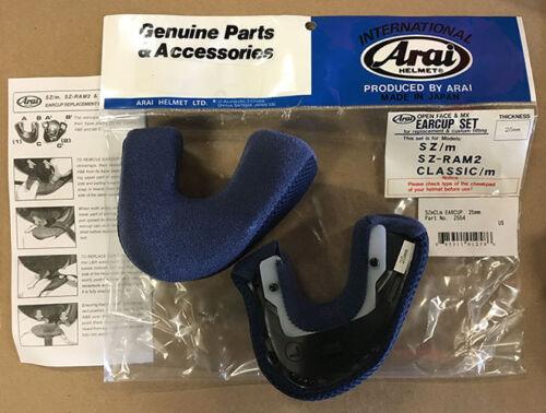 35mm ARAI Helmet Cheek Pads//Ear Cups •SZ//m SZ-Ram2 Classic//m Open Face •25mm