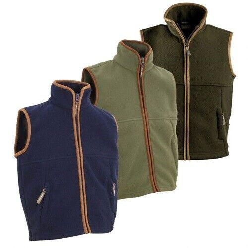 Jack Pyke Countryman Body warmer para Hombre Chaleco Polar Chaleco cálida chaqueta azul marino de caza