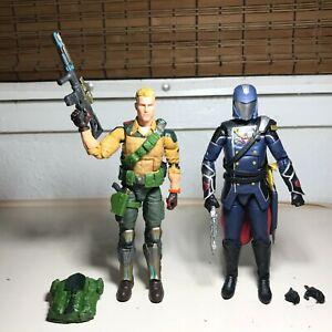 "GI Joe Classified Series Duke vs Cobra Commander Figure LOT Hasbro 6"" Pulse Set"