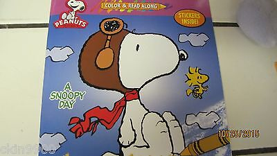 """Peanuts /& Snoopy Color /& Read Along /""""A FRIEND IS......./"""" Stickers 2 sheets New"""